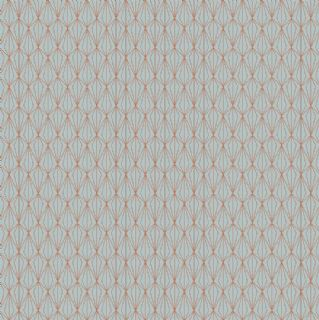 Lewis & Irene - City Nights - 6033 - Copper (Metallic) on Duckegg - A294.2 - Cotton Fabric